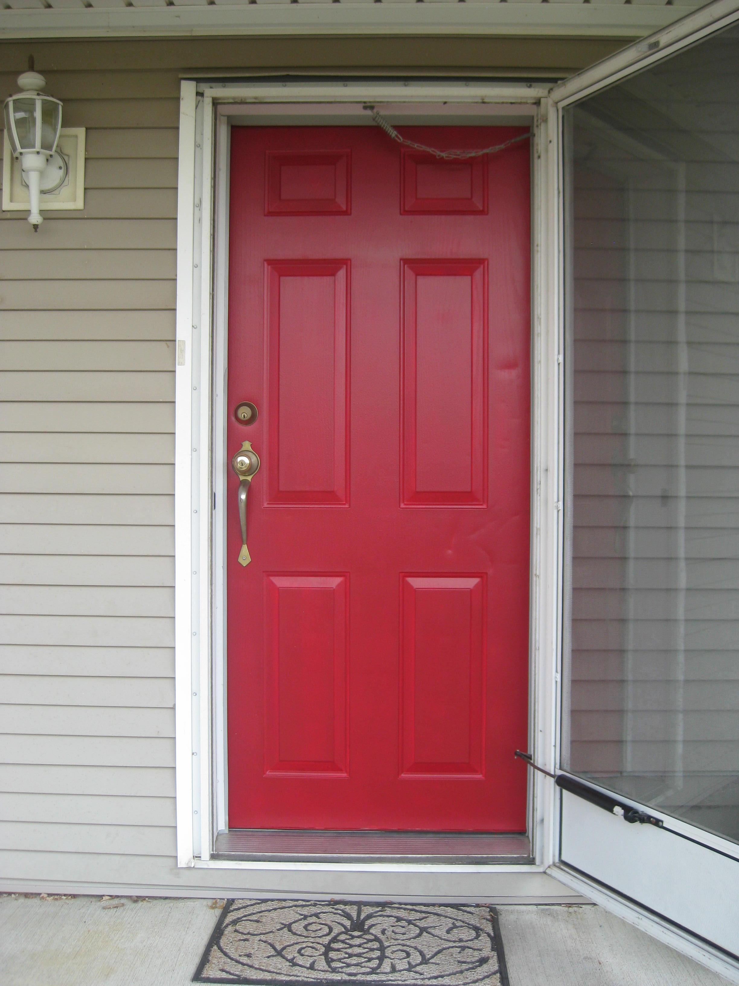 Valspar brielle rose for Red front door